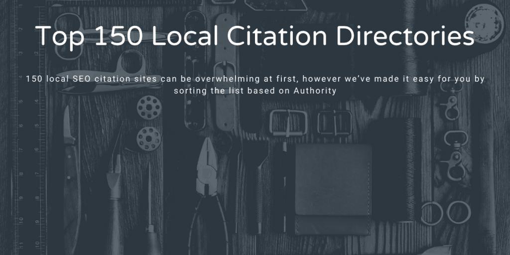 Top 150 Local citation directories