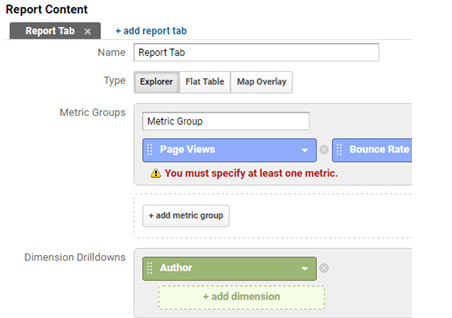 MonsterInsights report content field from Google Analtyics