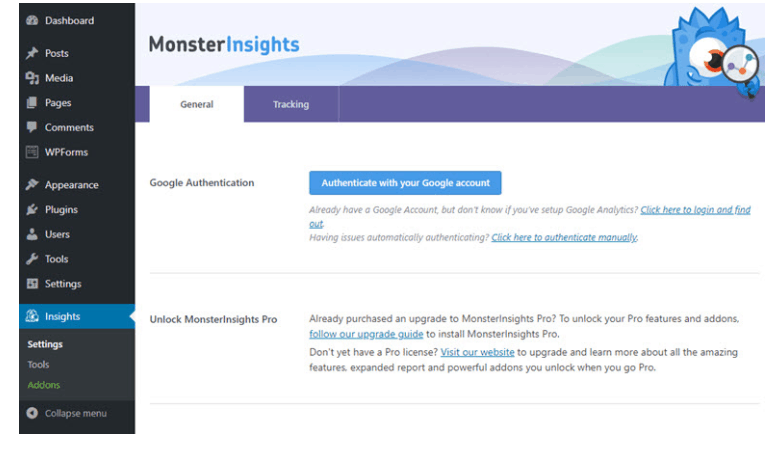 MonsterInsights Pro Plugin Authentication