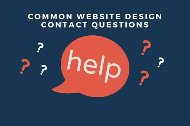 common website design contact questions
