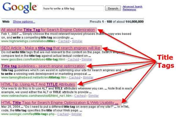 SEO Title Tags for Artists